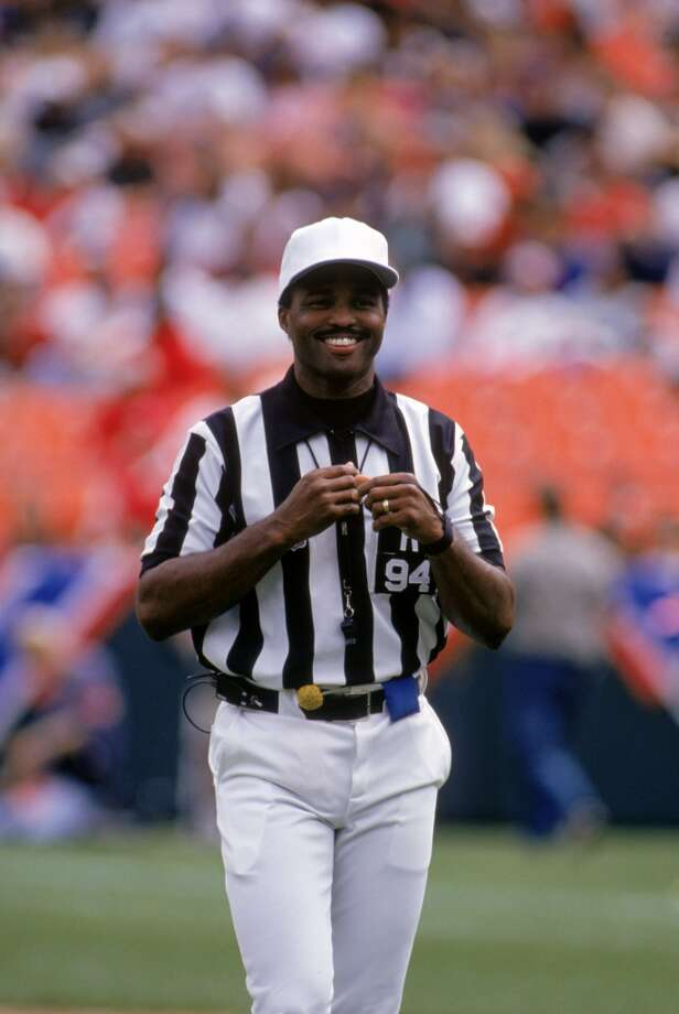 You probably recognize this face, but did you know that NFL referee Mike Carey went to Santa Clara (and majored in biology)? Here he is in 1995. He was the second African American ref in NFL history and the first to ref the Super Bowl. Photo: George Rose, Getty Images