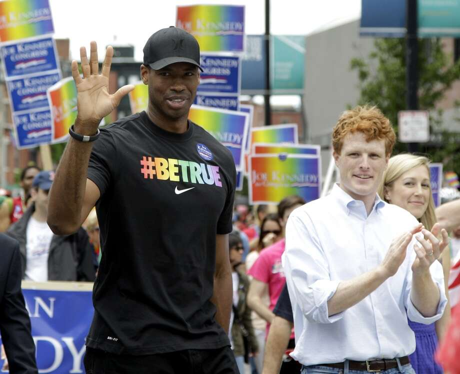 Last year, Jason Collins because the first active player from one of the four major U.S. professional sports leagues to come out as gay. Photo: Mary Schwalm, Associated Press