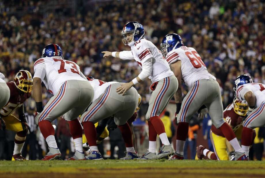19. Giants (5-7) Last week: 21Despite horrid start, Giants are only 2 games out of first, but they'll have to win out to be in contention. Photo: Associated Press, Patrick Semansky
