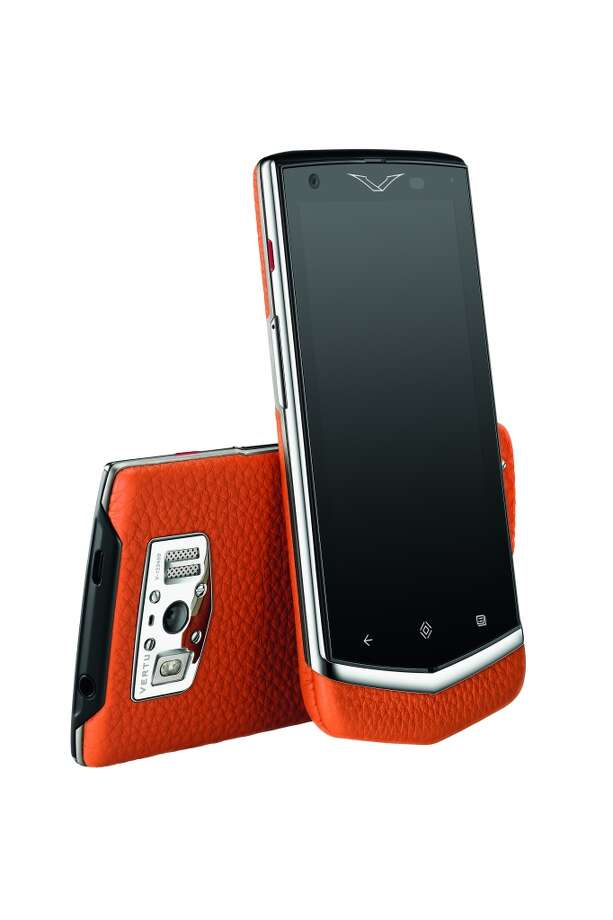Vertu's Constellation is the company's latest offering, a touchscreen Android phone. Photo: Vertu