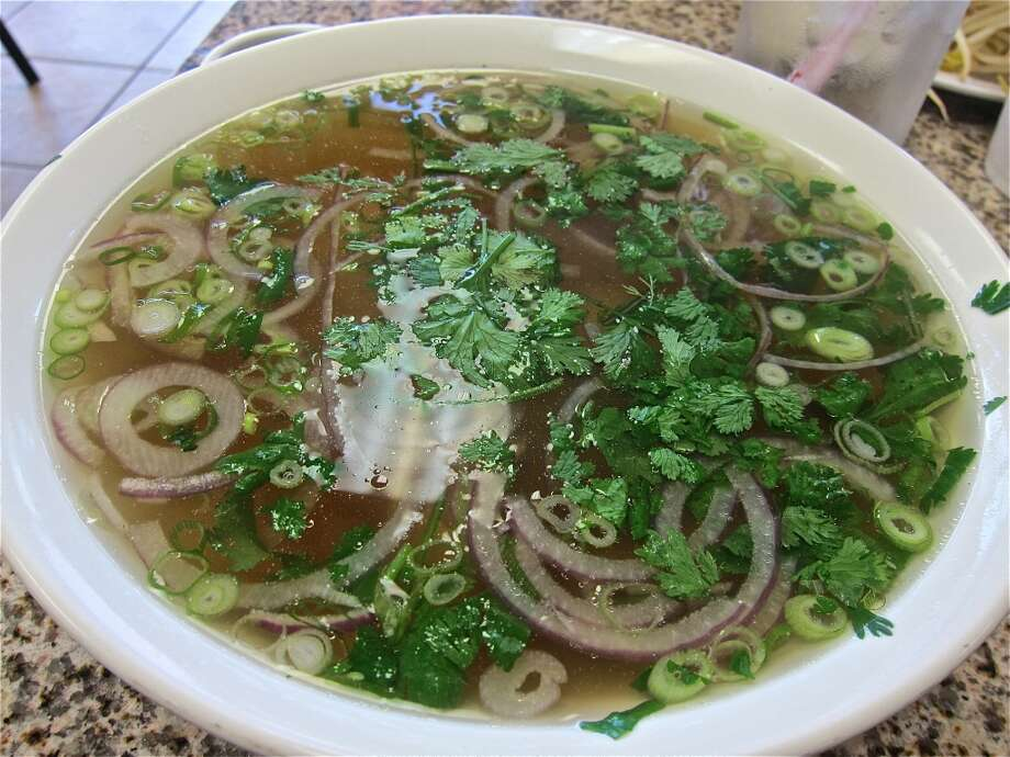 Pho with beef tendon at Pho Hung. Photo: Alison Cook
