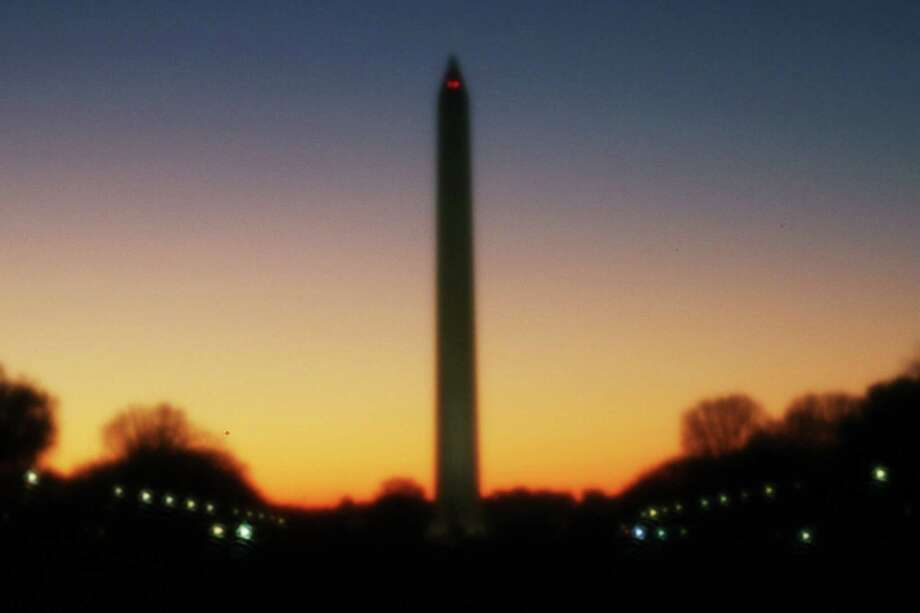 This pinhole photo of the Washington Monument at sunset was a 30-second exposure made with the help of a tripod. Photo: Forrest M. Mims III / For The Express-News