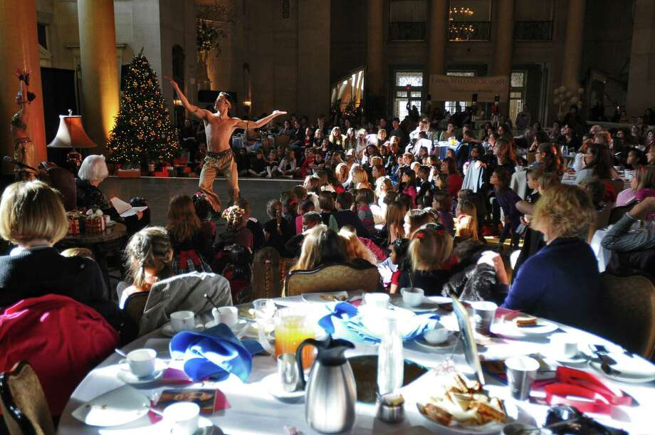 Dancer Matt Pardo and the Northeast Ballet Company perform excerpts from The Nutcracker during the Nutcracker Tea 2010 at the Hall of Springs at Saratoga Spa State Park in Saratoga Springs, NY Sunday  November 21, 2010.  The annual event, which attracted 800 children and guests over two session, is sponsored by Emma Willard School and hosted by SPAC's Action Council. ( Philip Kamrass / Times Union ) Photo: Philip Kamrass / 00011153A