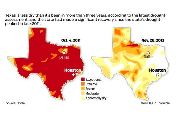 What a difference 3 years makes in state's drought ... Drought Map Texas on texas energy map, texas disease map, texas stream map, texas climate map, texas drainage map, texas coastal management map, the woodlands texas faultlines map, texas light map, texas cold front map, texas tsunami map, texas migration map, texas ozone map, texas fall color map, texas wildfires, texas highway 16 map, texas blizzard map, texas arizona new mexico map, plant native texas regions map, texas record cold map, texas air mass map,