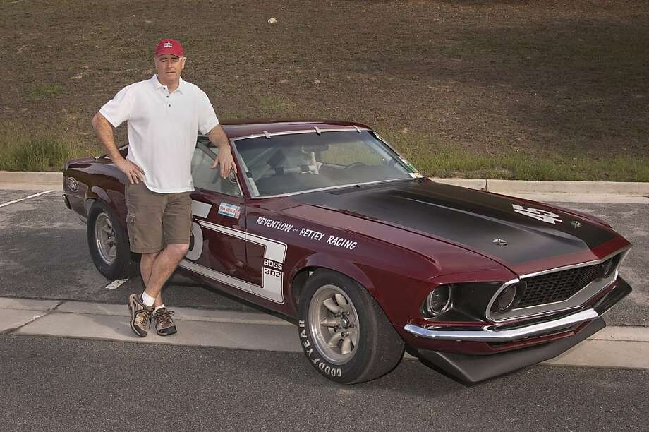 1969 Ford Mustang Boss 302 race car Photo: Stephen Finerty, Photograph By Stephen Finerty -