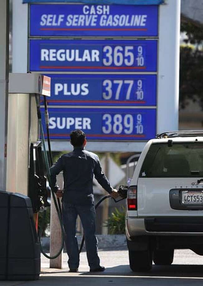 Bing news #9: Oil prices   We all wanted to know how much it was going to cost us to get to work... so we could earn more money to buy more gas. Photo: Justin Sullivan, Getty Images / 2012 Getty Images