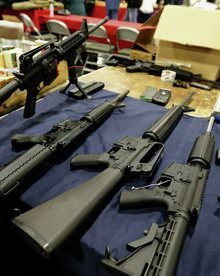 An increasing number of school district police  are armed with assault weapons. Where's the public discussion? Photo: George Frey / Bloomberg