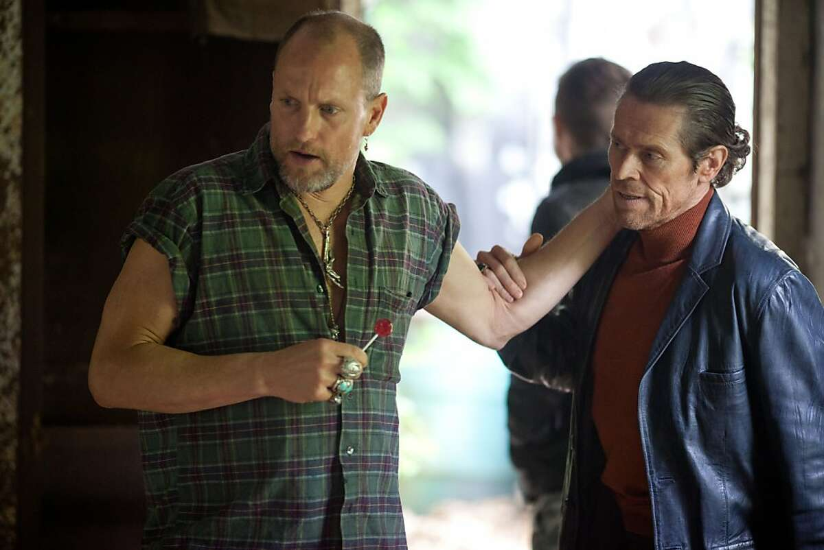 M 237 (Left to right.) Woody Harrelson and Willem Dafoe star in Relativity Media?•s Out of the Furnace. Photo Credit: Kerry Hayes © 2012 Relativity Media.