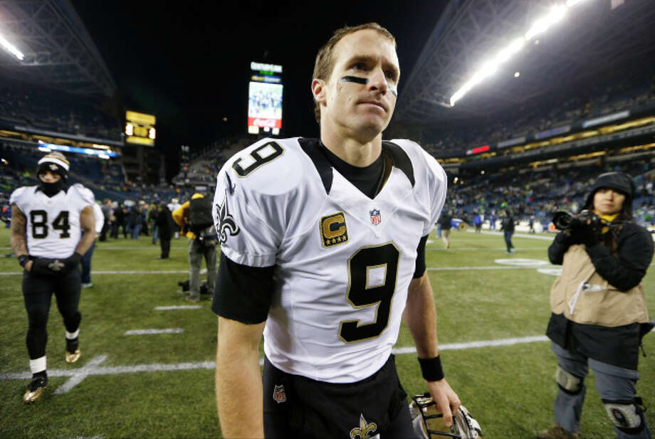 Drew Brees and Saints need quick recovery from Seattle in first of two critical showdowns with Panthers. Photo: John Froschauer, AP / FR74207 AP