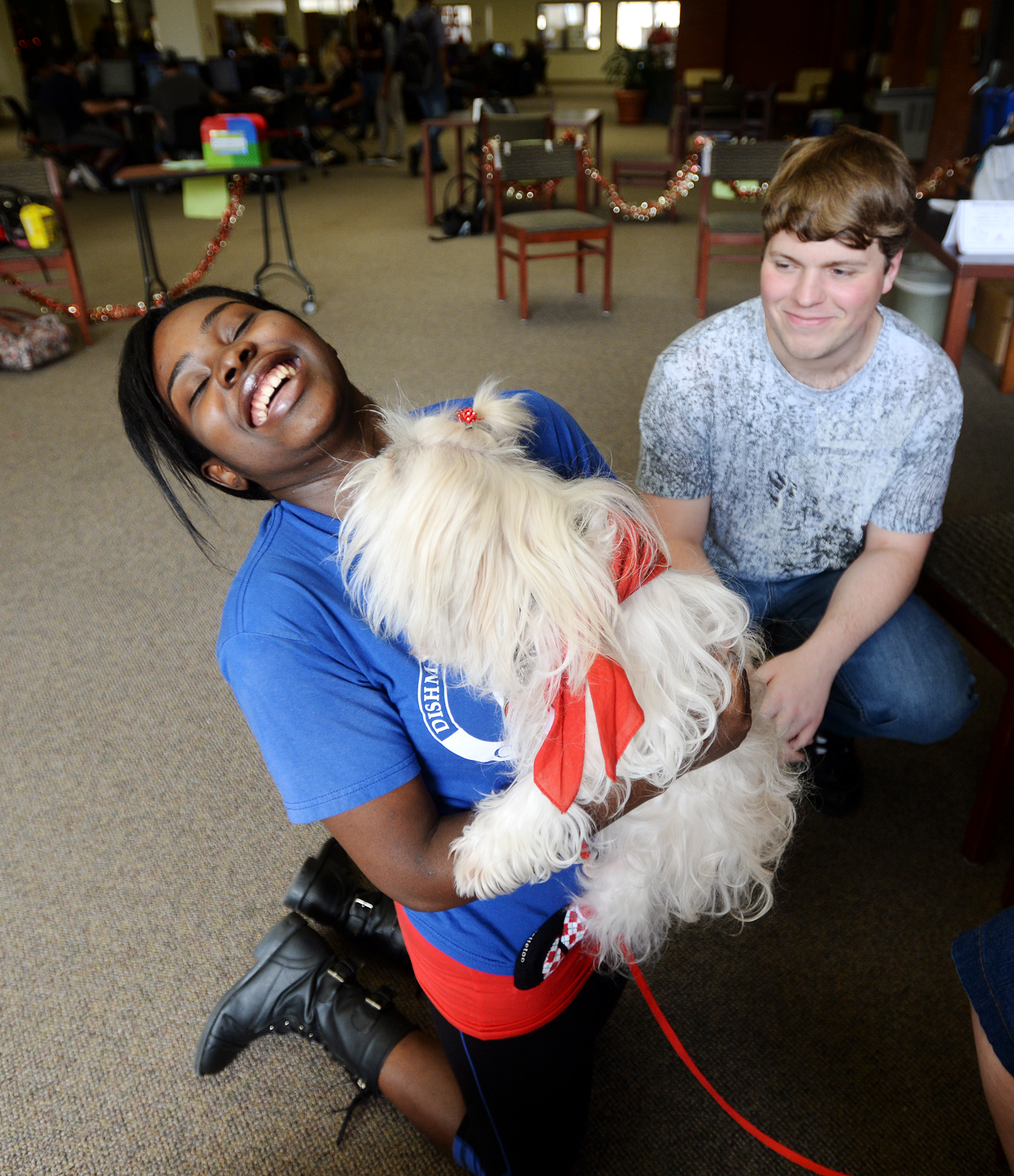 No Dog Days Here: Lamar Students Get Finals Relief From