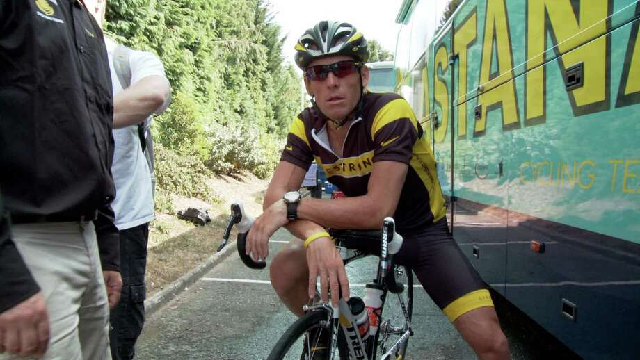 Disgraced Texas biker Lance Armstrong peddled his way into 47 jokes by Jay Leno. Photo: Sony Pictures Classics