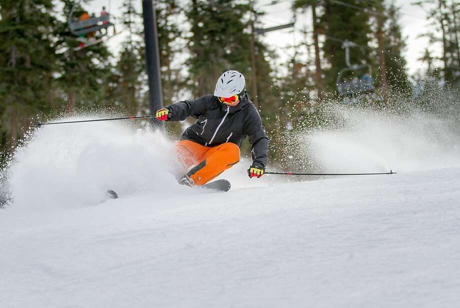 Snow-making operations have opened some terrain at several Sierra ski resorts, but it's been another light year for snow so far. Photo: Northstar California