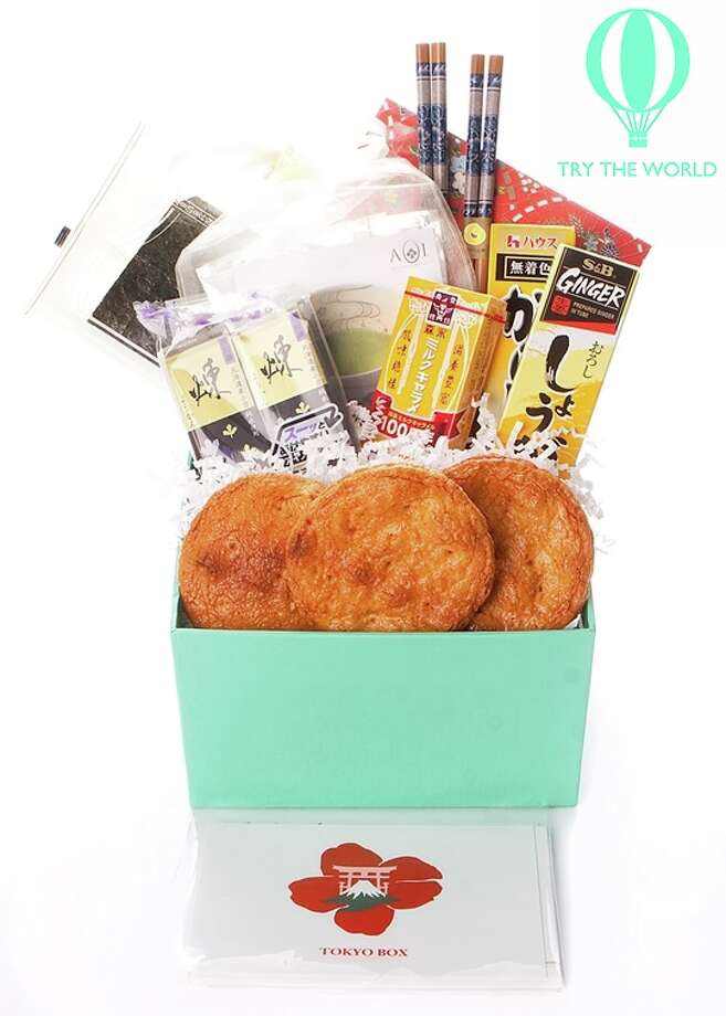 This handout product image provided by trytheworld.com shows the company's subscription offering. Trytheworld.com sends subscribers a box of hard-to-find items like jams, fine teas and films from a different city (Paris, Tokyo and Rio) every two months for a $45 fee for each box. (AP Photo/Trytheworld.com) ORG XMIT: NYBZ207 / Trytheworld.com