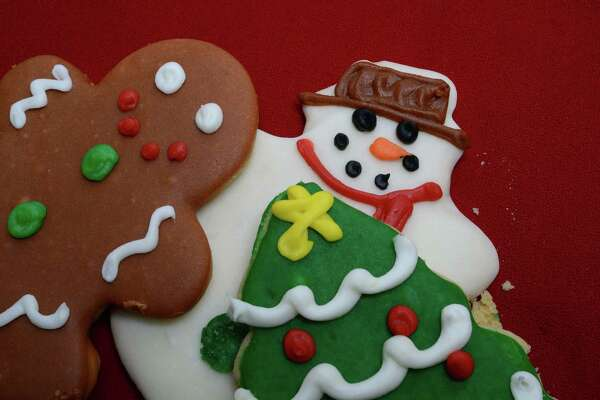 Decorated sugar cookies from The Ultimate Cheesecake Bakery on Dec. 3, 2013.