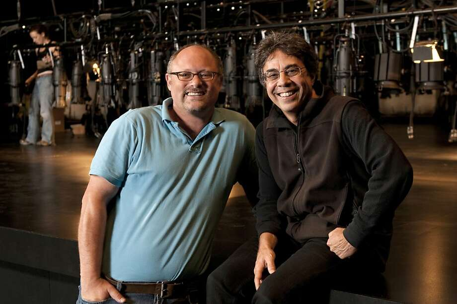The leaders of two renowned theatres—Tony Taccone of Berkeley Rep (right) and Jonathan Moscone of Cal Shakes—team up for the world-premiere production of Ghost Light. Photo: Kevinberne.com