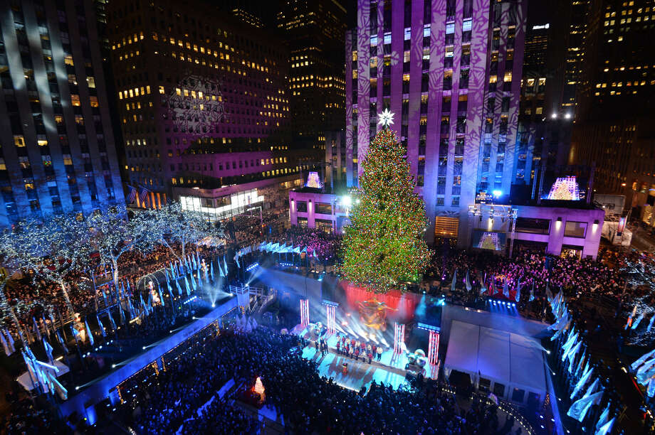 The Rockefeller Center Christmas Tree is lit December 4, 2013 in New York. AFP PHOTO/Stan HONDA Photo: STAN HONDA, AFP/Getty Images / Getty Images