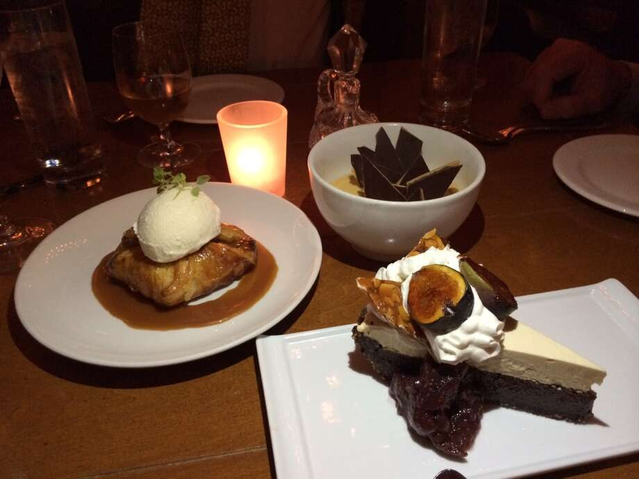 Three of the five desserts on the Town Hall menu