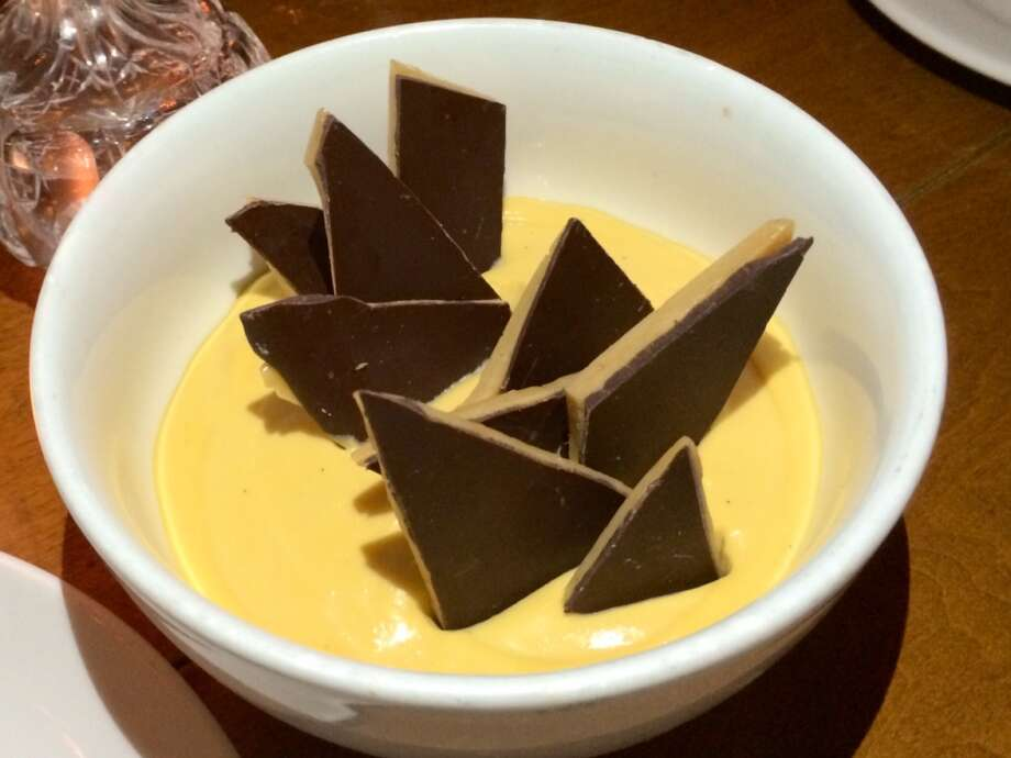 Butterscotch chocolate pot de creme with butter crunch ($10)