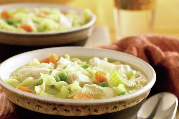Chicken noodle soup can be part of a healthful diet.