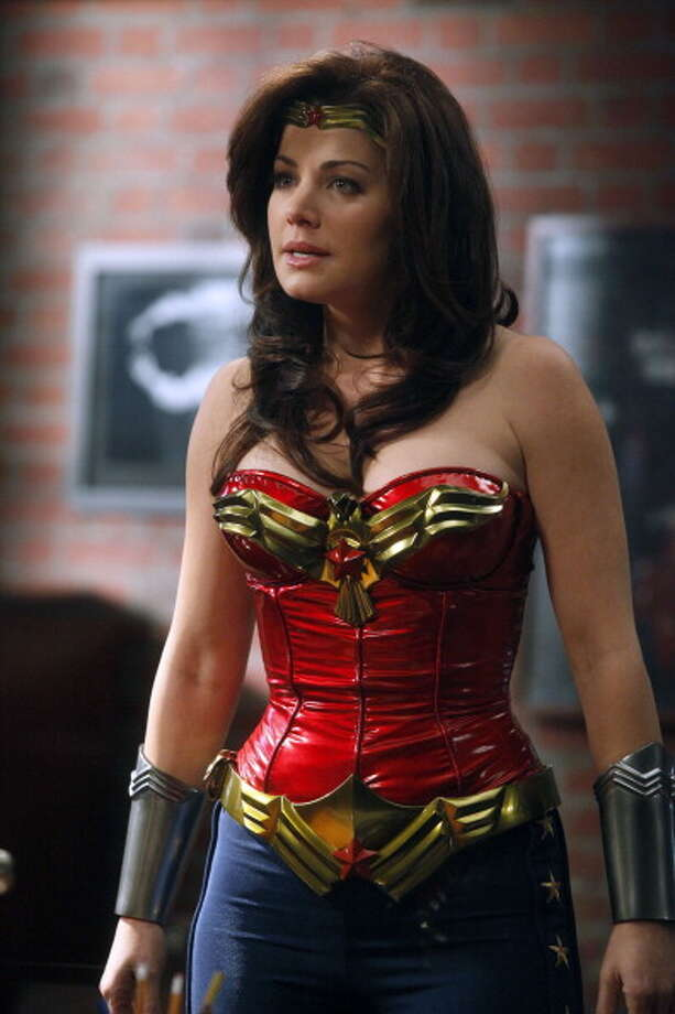 Gorilla My Dreams Episode 211 -- Pictured: Erica Durance as Wonder Woman/Annie Bilson. Photo: NBC, NBC Via Getty Images / © NBCUniversal, Inc.