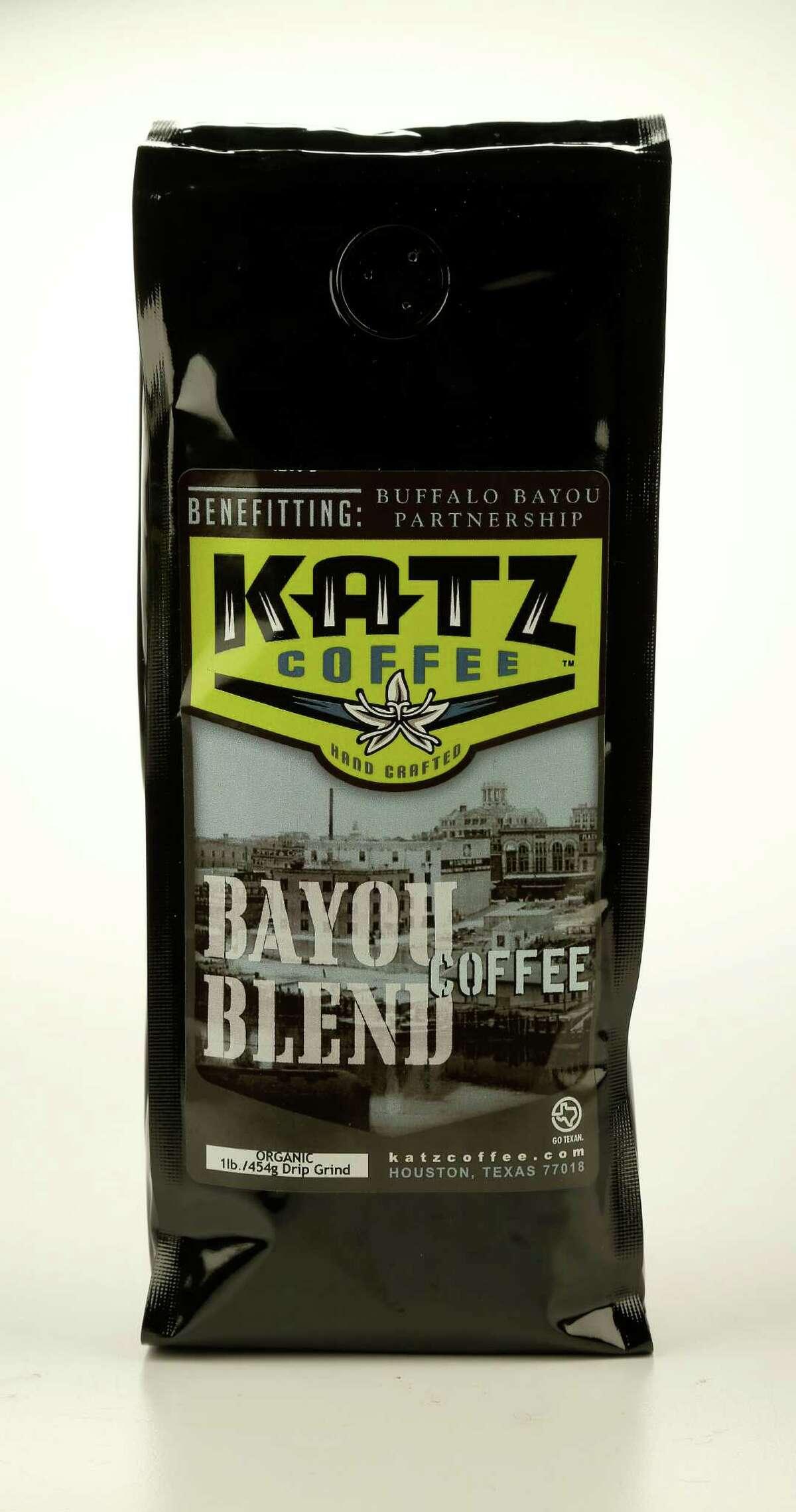 Katz Coffee Bayou Blend, benefiting Buffalo Bayou Partnership. Photographed in the Houston Chronicle studio, Thursday, Nov. 21, 2013, in Houston. ( Karen Warren / Houston Chronicle )