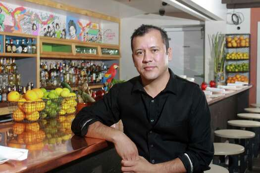 """Ninfa'sA lot of people in Houston feel they have a connection to Ninfa's on  Navigation - culinary, spiritual, familial bonds that link them to the  house that Mama Ninfa Laurenzo built. Nelson Serrano, the restaurant's bar manager, is no exception. The El Salvador-born Serrano moved in  his teens to Harlingen, the same heart of the Rio Grande Valley where  Ninfa Rodriguez was born and raised. As the new bar manager at Ninfa's  on Navigation, Serrano said he has the utmost respect for the  restaurant's history and legacy. """"I feel fortunate to be a part of it - part of history,"""" he said.One thing you may not know about Serrano:""""I like Kid Rock's music, especially when he mixes country and hip-hop."""" Photo: Gary Fountain, Freelance / Copyright 2013 Gary Fountain."""