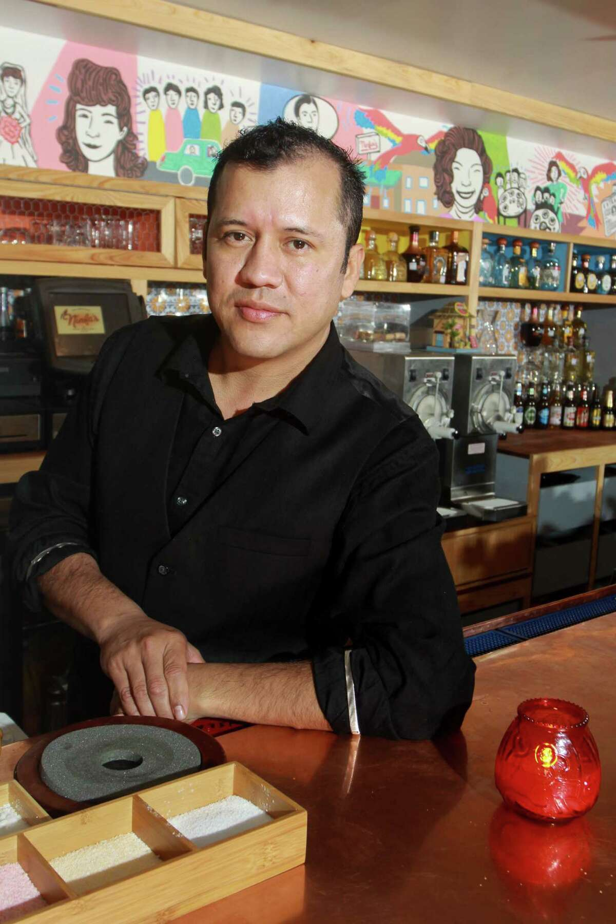 Bar manager Nelson Serrano has created a new batch of cocktails for the revamped bar at the Original Ninfa's on Navigation.