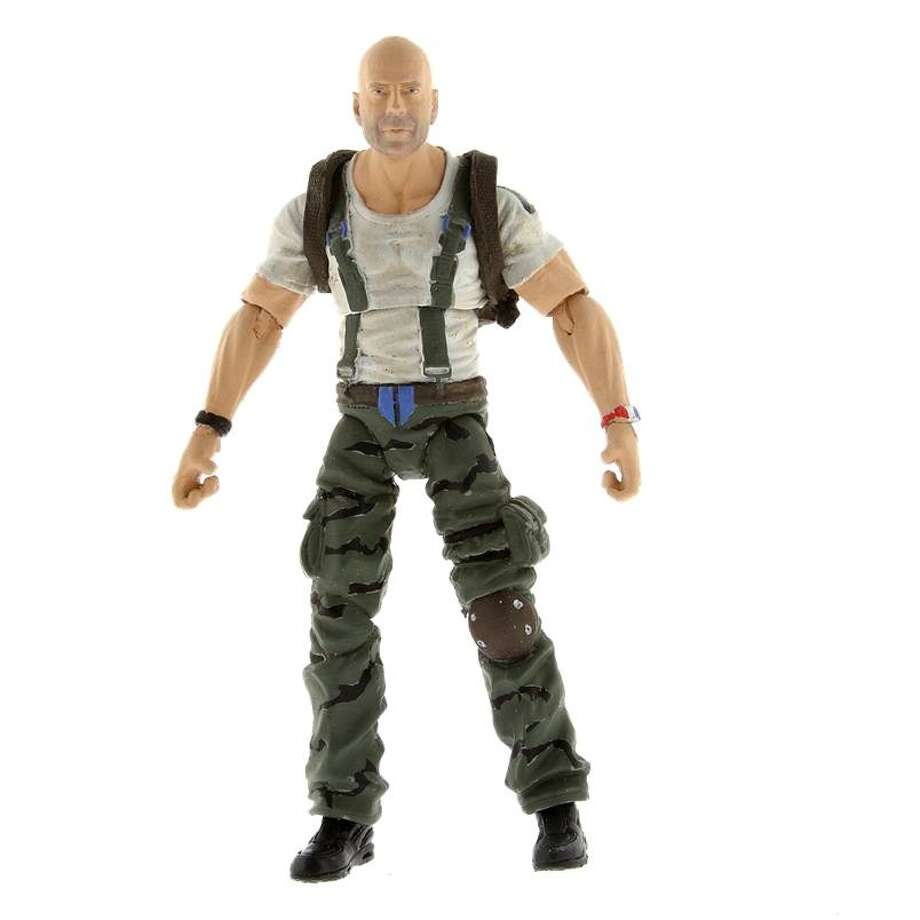 "Just like star Bruce Willis-inspired ""G.I. Joe: Retaliation"" action figure comes with both realistic muscles and regret for filming ""A Good Day to Die Hard."" Photo: Hasbro"