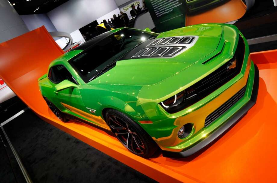 "The Chevrolet Camaro Hot Wheels concept car: the ultimate ""Big Boy Toy."" Photo: Paul Sancya, Associated Press"