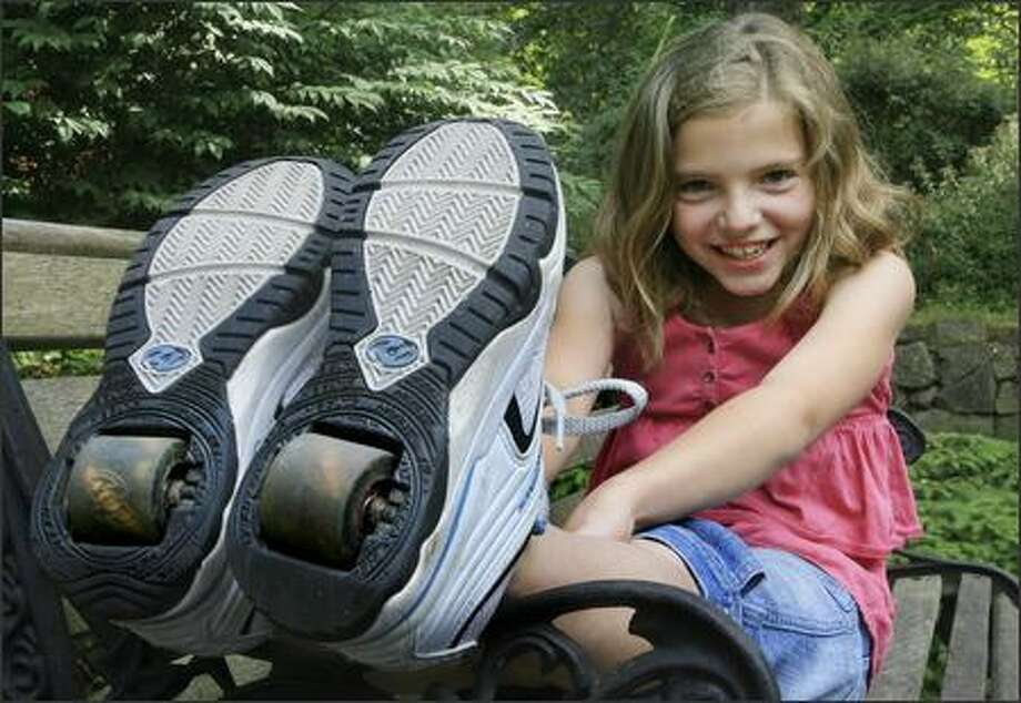 Kids today don't even have to walk to walk; they just let their shoes do all of the work.