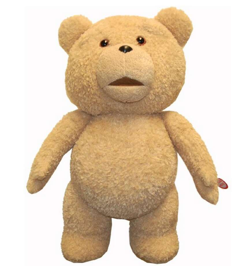 """This """"Ted"""" doll comes pre-programmed with several non kid-friendly phrases. The manufacturer's recommended age range, according to Amazon.com, is """"18 months - 7 years."""" Not kidding ..."""