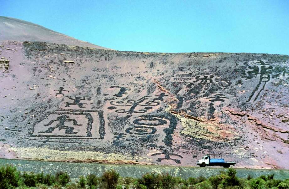"Atacama Desert, Chile:Indigenous people created these geoglyphs  ""in the negative space of piled rocks""  between the Pastoral phase (1500–500 BC) and the Colonial period (1500–1825). Photo: Gerhard Huedepohl, Www.phaidon.com"