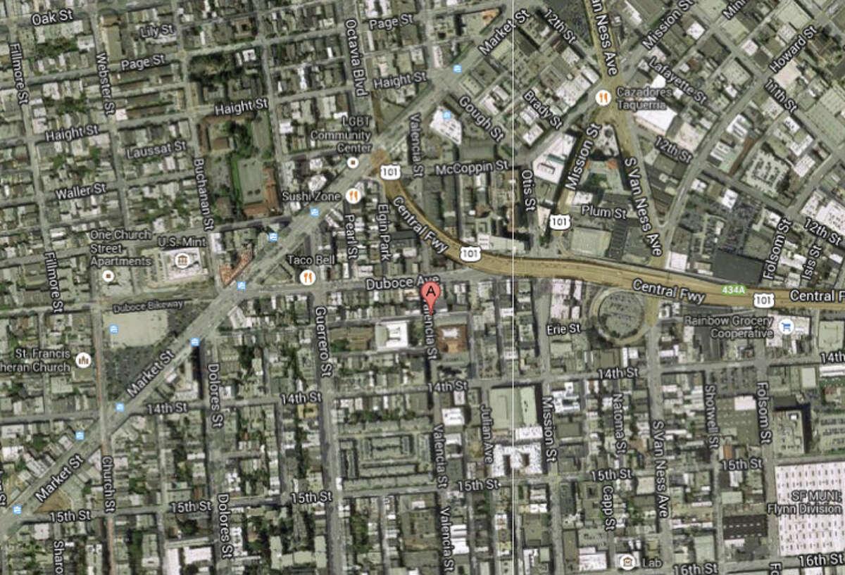 Valencia Street and Clinton Park, San Francisco, CA