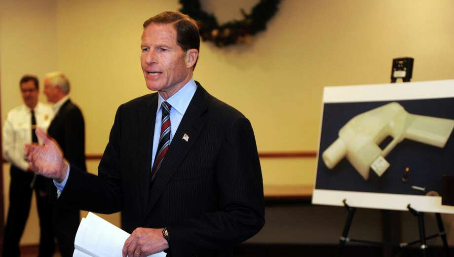 U.S. Senator Richard Blumenthal (D-Conn.) speaks during a press conference to call for quick passage of the Undetectable Firearms Act Thursday, Dec. 5, 2013 at the Morton Government Center in Bridgeport, Conn. On December 9th, the law that bans the production or purchase of a weapon that is not detectable by a metal detector is set to expire. Photo: Autumn Driscoll / Connecticut Post