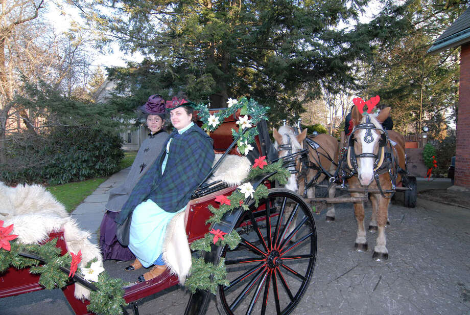 "Nook Farm, in Hartford, will celebrate an ""Olde-Fashioned Christmas"" on Saturday, Dec. 14, with numerous free activities, including carriage rides. Photo: Contributed Photo / Connecticut Post Contributed"