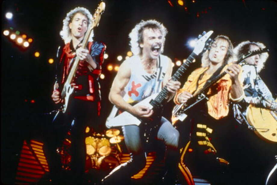 "Scorpions- Known for, ""Rock You Like a Hurricane"" Though still a popular song, legend has it that on dark stormy nights if you listen closely, you can still hear lead singer Meine scream, ""HEAR I AM!!!"" Photo: Michael Ochs Archives, Getty / Michael Ochs Archives"
