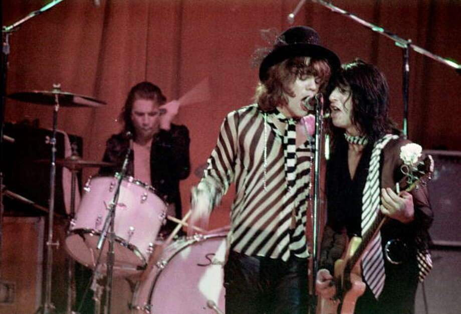 New York Dolls- Known for wearing lipstick and face paint.  Their demise was the fact they were never good or cool. Photo: Michael Ochs Archives, Getty / Michael Ochs Archives