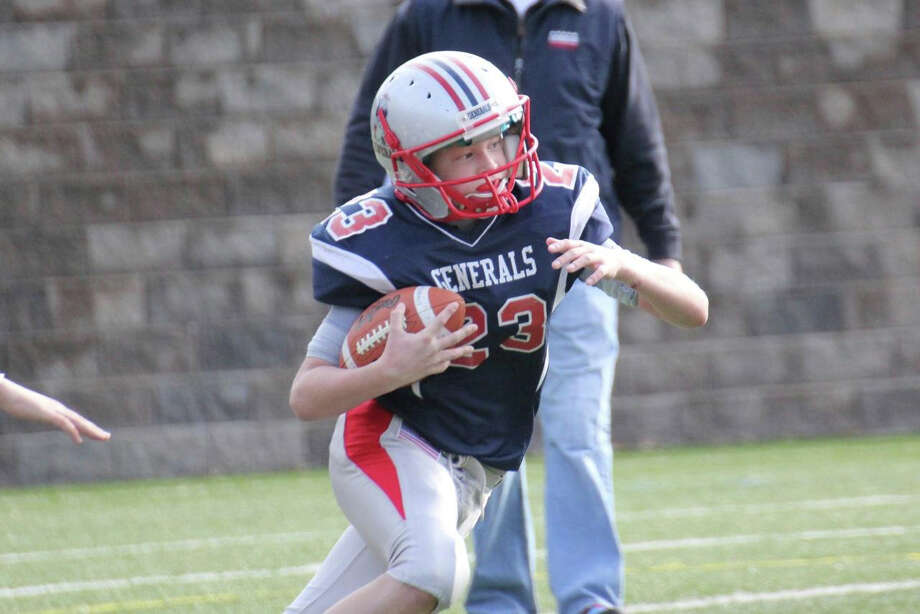 Colin Mulshine carries for the Junior Generals. Photo: Contributed Photo / Stamford Advocate Contributed
