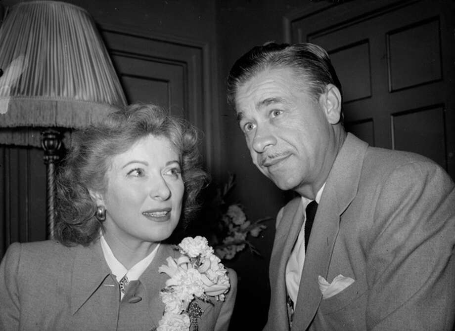 Texas oil tycoon with his Hollywood bride, actress Greer Garson.  (Photo by Stroud/Express/Getty Images) Photo: Stroud, Getty Images / Hulton Archive