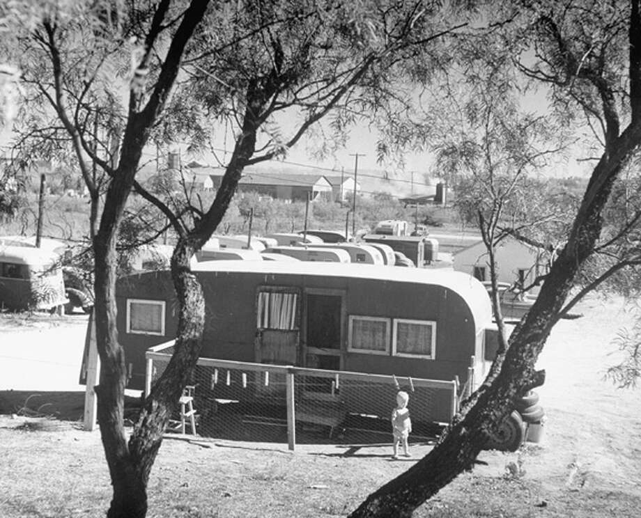 Trailer camp during Texas oil boom.  (Photo by Frank Scherschel//Time Life Pictures/Getty Images) Photo: Frank Scherschel, Time & Life Pictures/Getty Image / Time Life Pictures