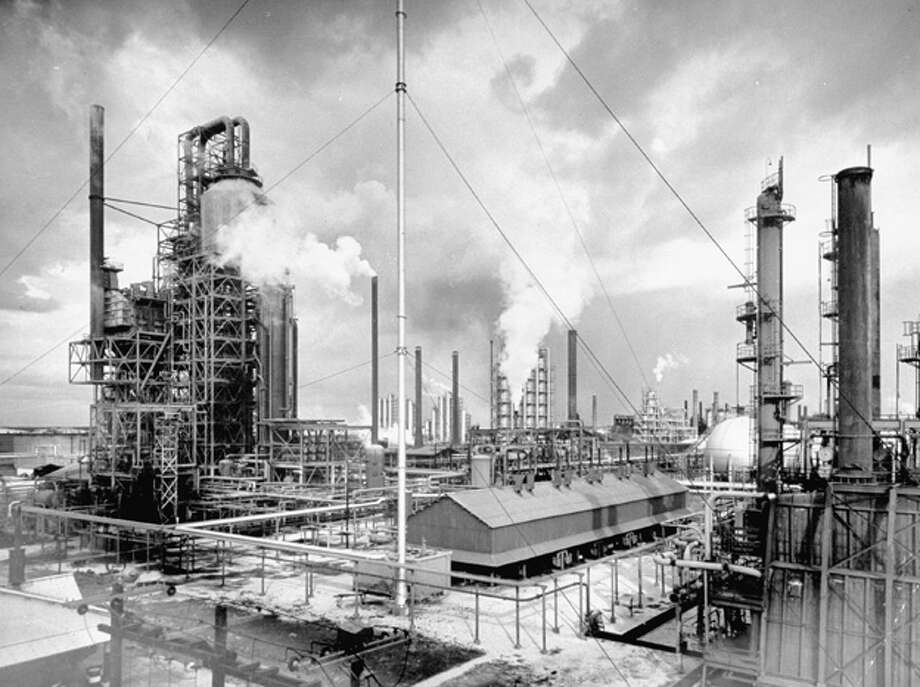 Exterior of Humble Oil Refinery.  (Photo by Dmitri Kessel/Time Life Pictures/Getty Images) Photo: Dmitri Kessel, Time & Life Pictures/Getty Image / Time Life Pictures