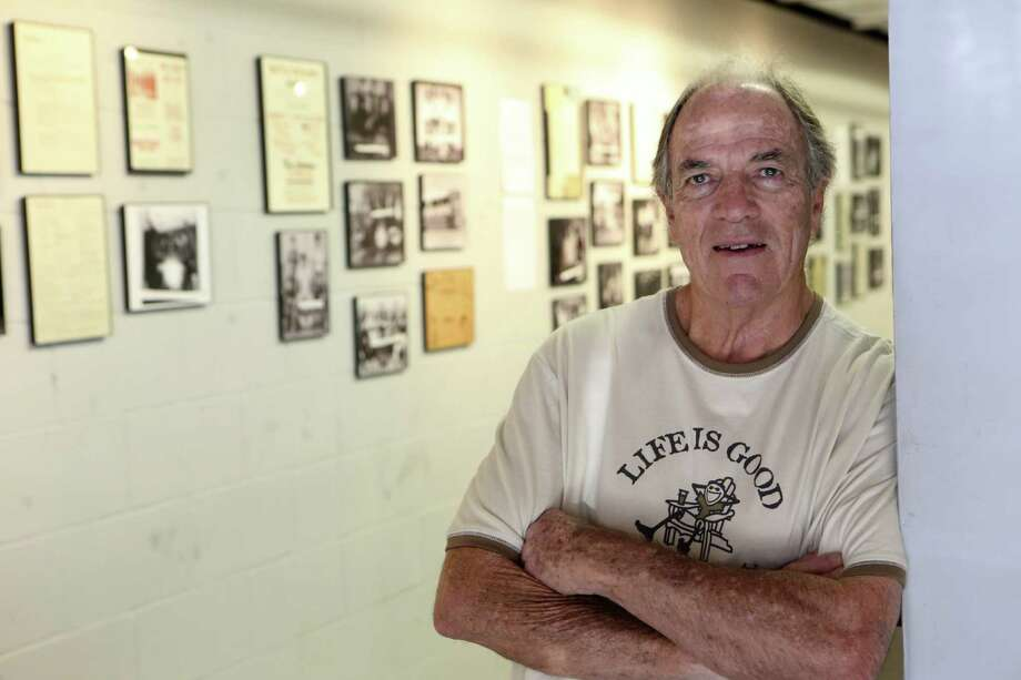 "Sam Kinsey today (above) and in his heyday as a dance club impresario (below). An exhibit at the South Texas Popular Culture Center, ""Teen Canteen: Two Decades of S.A. Rock & Roll,"" showcases the Teen Canteen's history at its different venues from 1961 to 1977. Photo: Helen L. Montoya / San Antonio Express-News"