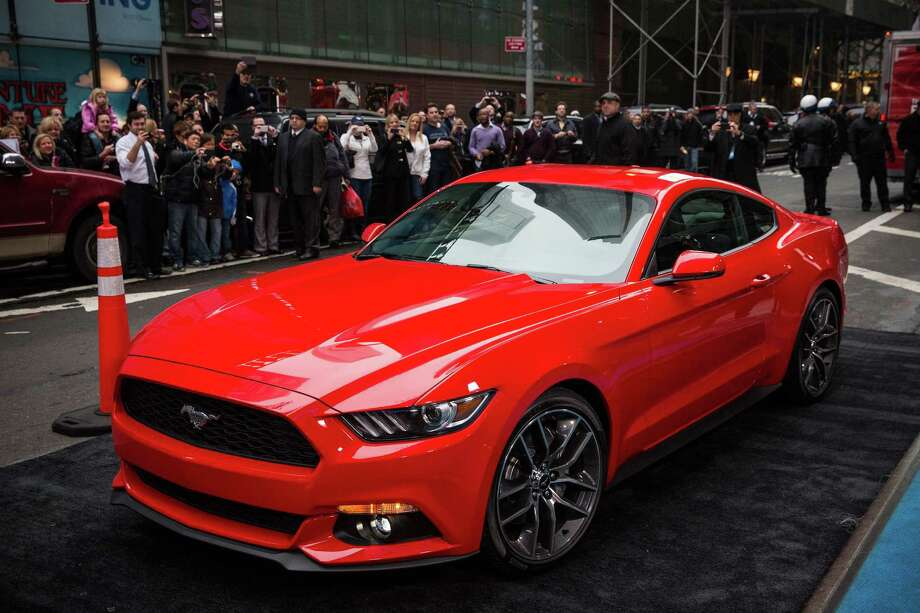 "The 2015 Ford Mustang is unveiled on the set of television's ""Good Morning America"" program in New York. The Ford Motor Co. says that Texas is the No. 1 market for Mustangs. Photo: Andrew Burton / Getty Images"