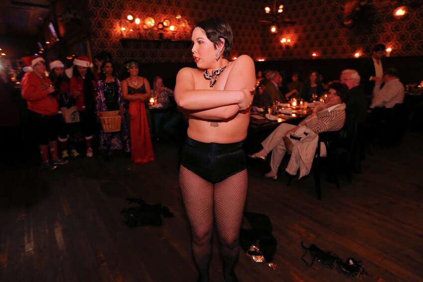 Vixy Van Hellen performs during The Esquire Tavern 80th birthday celebration, that coincides with the date Prohibition ended ?' Dec. 5, 1933 ?' known as national Repeal Day, Thursday Dec. 5, 2013.