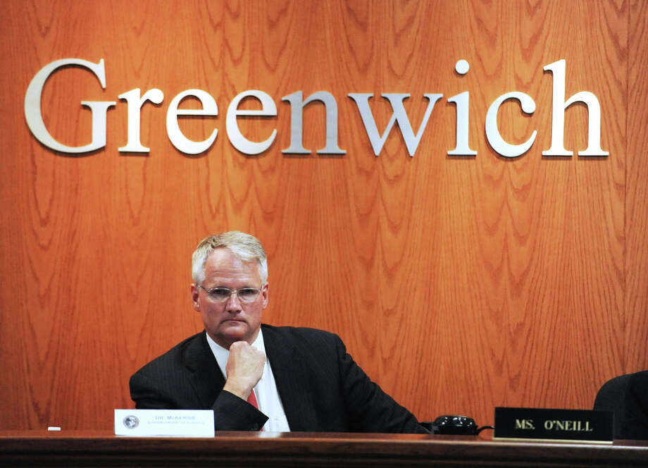 A file photograph shows Superintendent of Schools William McKersie during the Greenwich Board of Education meeting at Greenwich Town Hall on Aug. 30, 2012. Photo: Bob Luckey / Greenwich Time