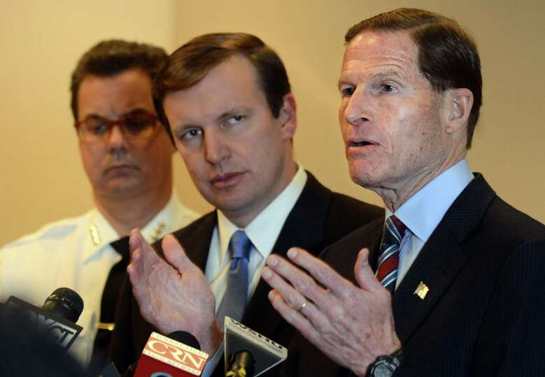 U.S. Senator Richard Blumenthal (D-Conn.) speaks during a press conference to call for quick passage