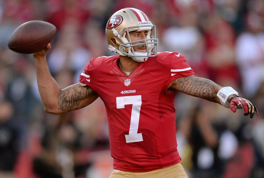 """JIM HARBAUGH49ers head coachQ: How well would you say 49ers quarterback Colin Kaepernick has developed this year?JH: """"He's just playing A-plus, and competing A-plus, and his strong leadership has been A-plus. Everything has been really good. He's got a wonderful competitive heart; I just love that about him.""""Q: How about Russell Wilson?JH: """"A-plus. A-plus. He's a wonderful quarterback having a phenomenal season."""" Photo: Thearon W. Henderson, Getty Images"""