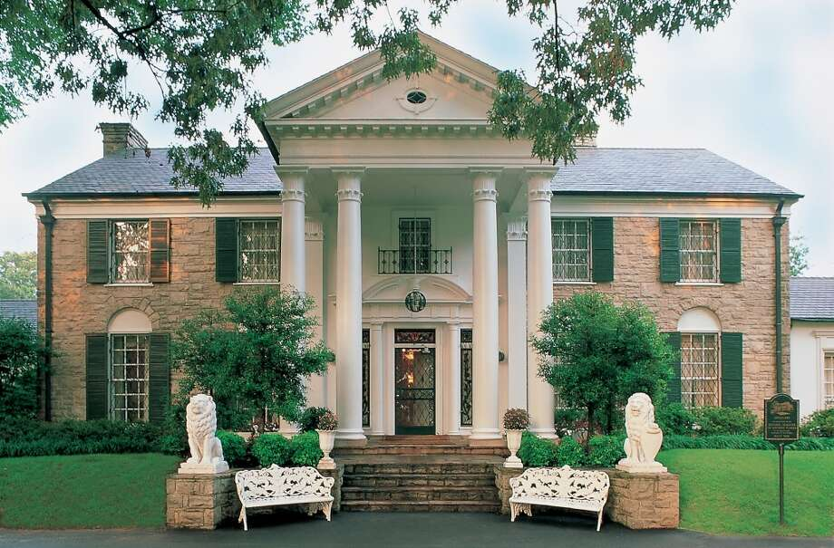 Elvis Presley buys a mansion at 3734 Bellevue Blvd. for $100,000 in Memphis, Tenn., and names it Graceland. Photo: Elvis Presley Enterprises Inc. MCT