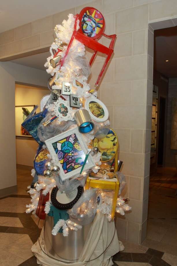 Christmas tree at the Holiday Schmooze party benefiting Legacy Health Services. Photo: Gary Fountain, For The Chronicle