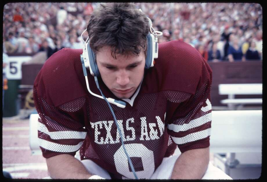 Gary Kubiak on the sidelines as Texas A&M's quarterback in 1981.